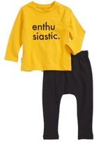 Infant Tiny Tribe Enthusiastic T-Shirt & Jogger Pants Set