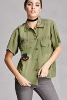 Forever 21 Twelve Army Patch Shirt