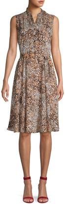 Nanette Nanette Lepore Leopard-Print Sleeveless Dress