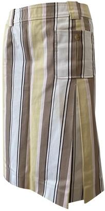 Celine Yellow Cotton Skirts