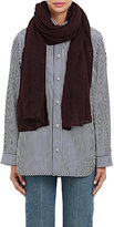 Barneys New York Women's Oversized Cashmere-Silk Scarf-BURGUNDY