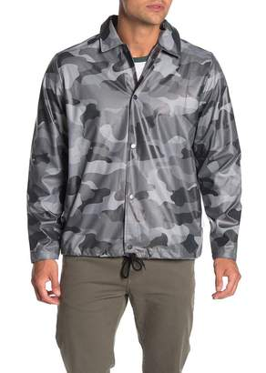 Rains Coach Waterproof Camo Print Jacket