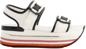 Hogan Maxi H222 Sandals White