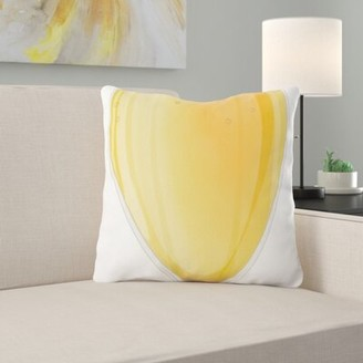 East Urban Home Beer Glass Throw Pillow