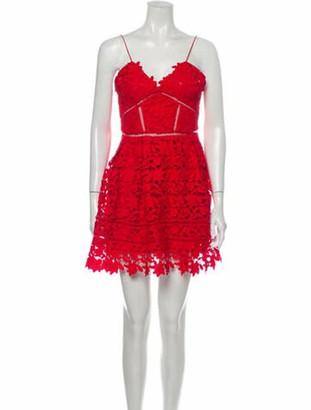 Self-Portrait Lace Pattern Mini Dress w/ Tags Red