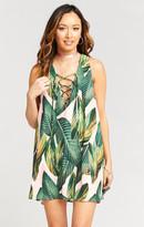 MUMU Rancho Mirage Lace Up Tunic Dress ~ Peachy Palm