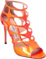 Jimmy Choo Ren 100 Neon Cage Patent Sandal
