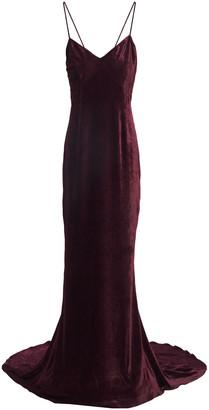 Stella McCartney Paulina Open-back Velvet Gown
