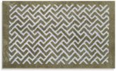 Bed Bath & Beyond Adelaide Jacquard Bath Rug in Oatmeal Chevron