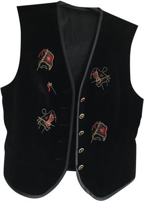 Basler Black Velvet Coat for Women