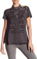 Haute Hippie More Of It All Embellished Bead Tee