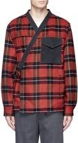 3.1 Phillip Lim Check plaid melton kimono jacket