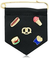 BCBGeneration New Gold/Black polyurethane Food Brooches and Pin