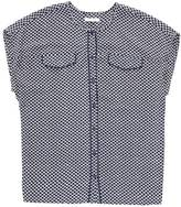 Nautica Printed Georgette Piped Pocket Top