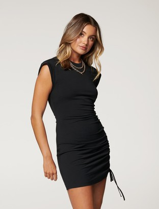 Forever New Roxi Extended-Sleeve Mini Dress - Black - 10
