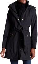Ellen Tracy Snap Front Trench Coat