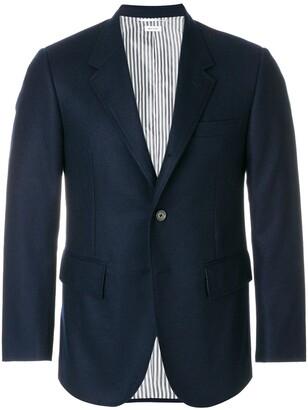 Thom Browne Wide Lapel Solid Wool Sport Coat
