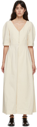 Jil Sander Beige Cotton Canvas Dress