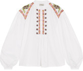 Temperley London Fable Embroidered Cotton Blouse - UK12