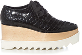 Stella McCartney Elyse faux-crocodile lace-up platform shoes