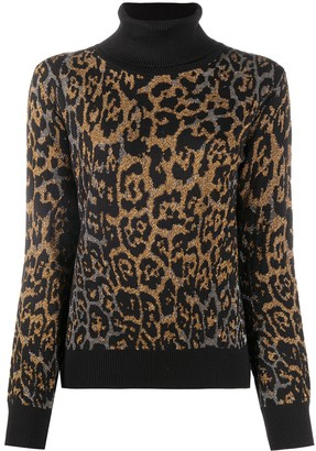 Just Cavalli Leopard-Print Crew Neck Jumper