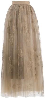 Brunello Cucinelli High-Waisted Layered Skirt