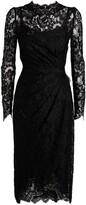 Dolce & Gabbana Draped Lace Dress