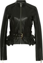 Elie Saab Peplum Leather Jacket