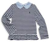 Ralph Lauren Toddler's, Little Girls and Girl's Chambray-Collar Striped Top