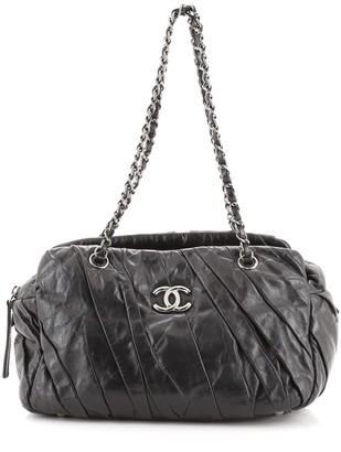 Chanel Twisted Bowling Bag Glazed Calfskin
