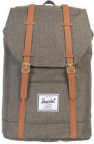 Herschel NEW Retreat Canteen Synthetic Leather Backpack : Crosshatch/Tan