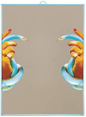 Seletti LARGE HANDS WITH SNAKES PRINTED MIRROR
