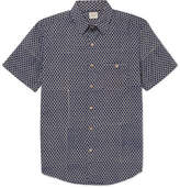 Faherty Coast Printed Cotton Shirt - Blue