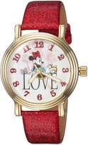 Disney Women's 'Minnie Mouse' Quartz Metal Casual Watch, Color: (Model: WDS000254)
