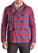 Geospirit Men's Multicolor Wool Coat.