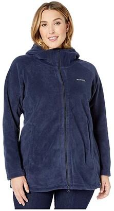 Columbia Plus Size Benton Springstm II Long Hoodie (Dark Nocturnal) Women's Sweatshirt