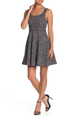 Max & Ash Plaid Tweed Skater Dress