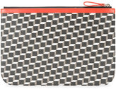 Pierre Hardy large Perspective Cube pouch - unisex - Calf Leather/Polyurethane/Canvas - One Size