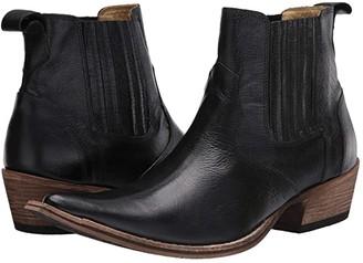 Massimo Matteo El Padrino Pointy Toe Boot (Black Leather) Men's Shoes