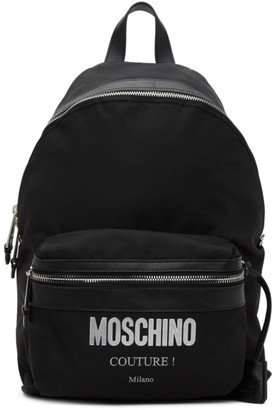 Moschino Black Canvas Couture Backpack