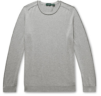 Incotex Piped Cotton-Blend Sweater