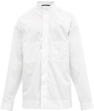 Haider Ackermann Band-collar Cotton Shirt - White