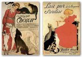 """McGaw Graphics Lait Sterilise-Clinique Cheron Set by Theophile Alexandre Steinlen 36""""x26"""" Art Print Poster"""