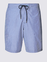 M&s Collection Quick Dry Striped Swim Shorts With Pocket