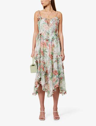 Zimmermann Floral-print silk midi dress