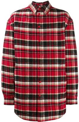 Balenciaga oversized checked flap shirt