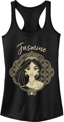 Licensed Character Junior's Disney's Aladdin Jasmine Geometric Portrait Tank Top