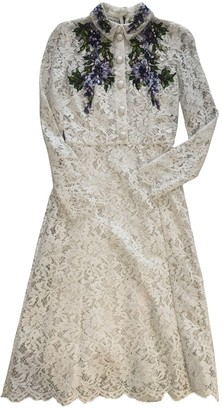 Dolce & Gabbana Ecru Lace Dress for Women