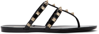 Valentino Black Garavani Rockstud Jelly Sandals