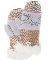 Muk Luks Women's Reindeer Mittens